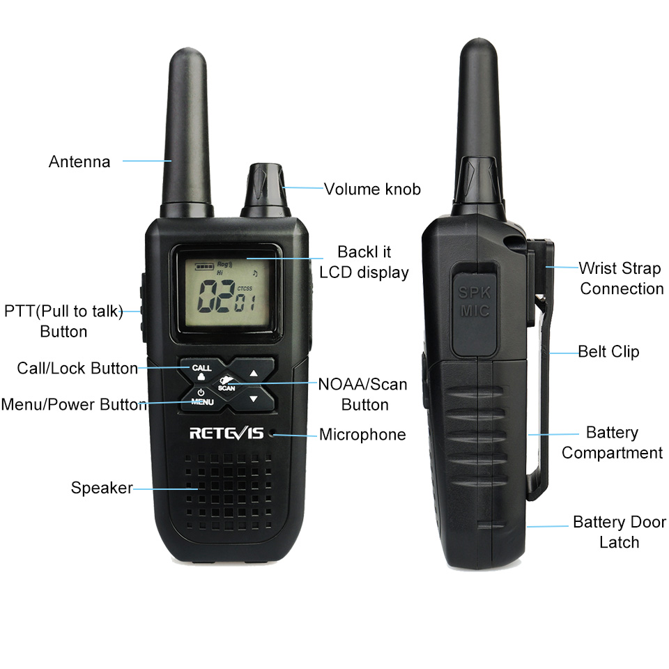 Image 2 - 2pcs RETEVIS RT41 Two way Radio VOX License free FRS Portable Mini Walkie talkie NOAA Weather Alert USB Charging Walkie Talkie-in Walkie Talkie from Cellphones & Telecommunications