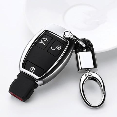 TPU Car Key Case Cover For Mercedes Benz W203 W210 W211 W124 W202 W204 W212 W176 AMG Accessories Keychain Holder Keyring Islamabad