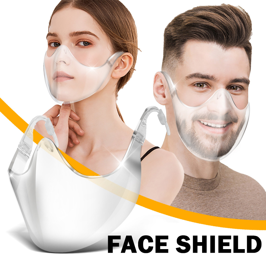 Fast Delivery Masque Máscara 2020 Durable Mask Face Shield Combine Plastic Reusable Clear Face Mask Bandage 1