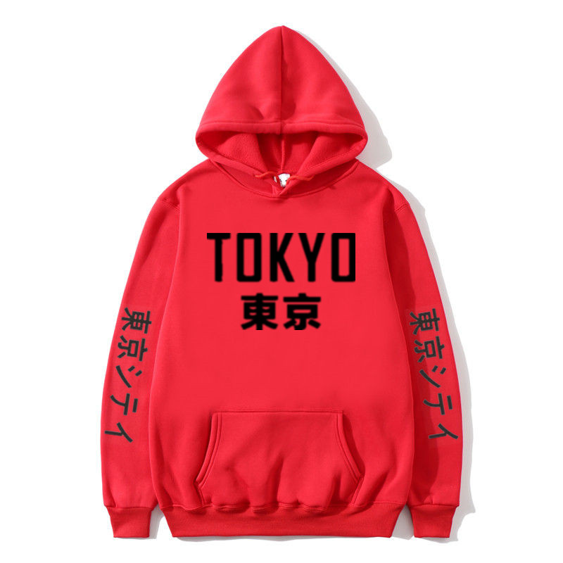 New Arrival Japan Harajuku Women's Thin Hoodies Tokyo City Printing Pullover Sweatshirt Spring And Autumn Hip Hop Streetwear