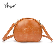 YBYT new vintage crossbody bag for women 2019 oil wax leather handbag joker leisure female shoulder messenger bolsas feminia