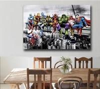 Superheroes Marvel DC United Canvas Poster 4
