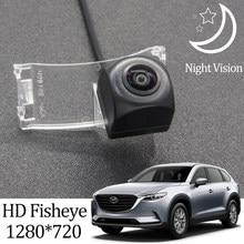 Owtosin hd 1280*720 fisheye câmera de visão traseira para mazda CX-9 2016 2017 2018 carro veículo reverso estacionamento acessórios