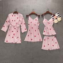FZSLCYIYI Sleep Lounge Pajama Set Sexy Satin Sleepwear Women