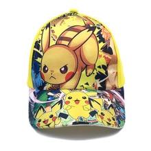 Pokemoning Cartoons Anime Boys Baseball Cap Pikachuing Cute Hat Adjustable Cosplay Hip Hop Cap Girls Among Figures Toys Hat Gift