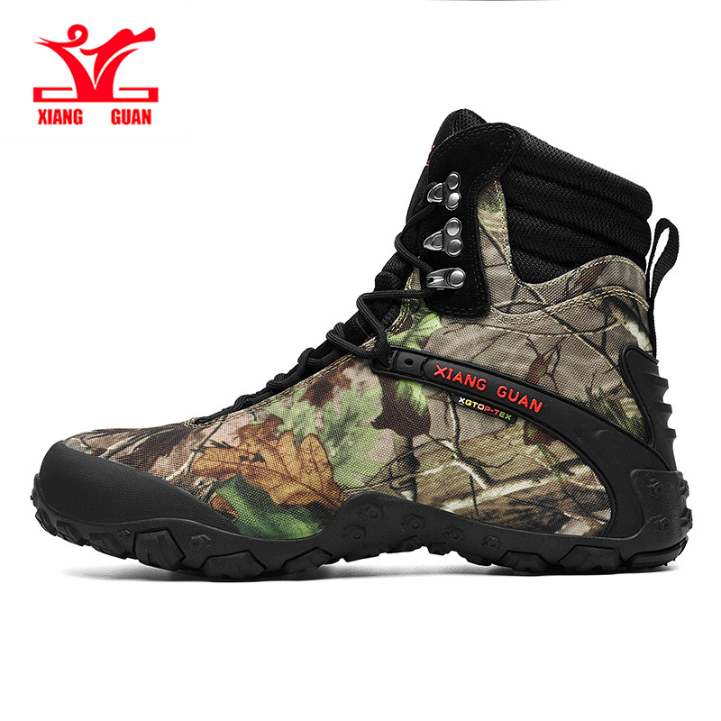 Xiangguan Hiking shoes for Unisex High-top camouflage climbing shoes for men Non-slip Wear resistant Women's shoes