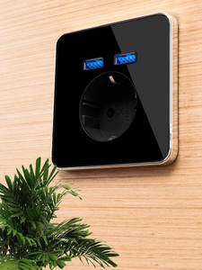 Wall-Socket Charger Power-Outlet Usb-Plug JIUBEI Dual-Home Standard Eu