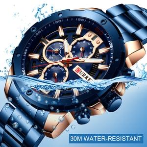 Image 5 - CURREN Men Watch Top Brand Stainless Steel Mens Watches Chronograph Quartz Watch Men Sports Clock Relogio Masculino Reloj Hombr