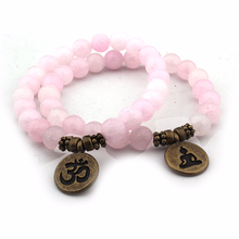 цена на Natural Horse Powder 8mm Single Bracelet Bronze Pendant Yoga Bracelet Manufacturer Direct Selling Handmade For Women
