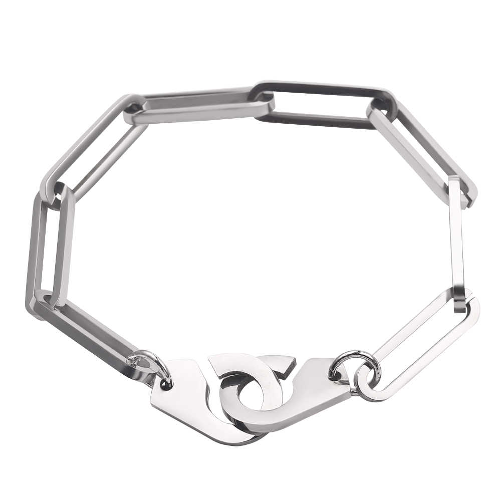 Handcuffs Bracelets Fifty Shades of Grey Handcuff Bangle Menotte Link Chain Silver Color Desire Freedom Punk Summer Jewelry Gift