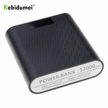 Kebidumei 4X18650 güç banka çantası USB portu DIY kabuk durumda kutusu cep telefonu şarj cihazı ile LED DIY ekran için Android iPhone