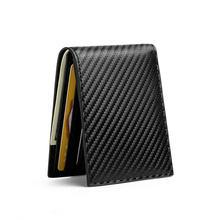Bycobecy карбоновый кошелек для карт с рисунком rfid денег Тонкий