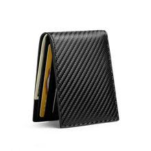 Zovyvol padrão de fibra de carbono inteligente carteira rfid saco de dinheiro fino carteira para homens bolsa titular do cartão de crédito de alta qualidade