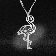 Unique Flamingo Necklace LaVixMia Italy Design 100% Stainless Steel Necklaces for Women Super Fashion Jewelry Special Gift(China)