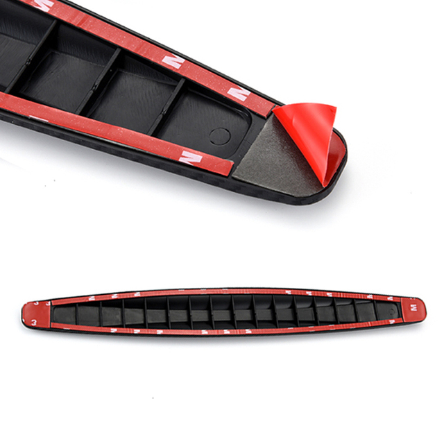Car Bumper Protector Front Body Corner Lip Bumper Side Gurad Rear Back Protection Carbon Fiber Stickers Anti-scratch Car Styling