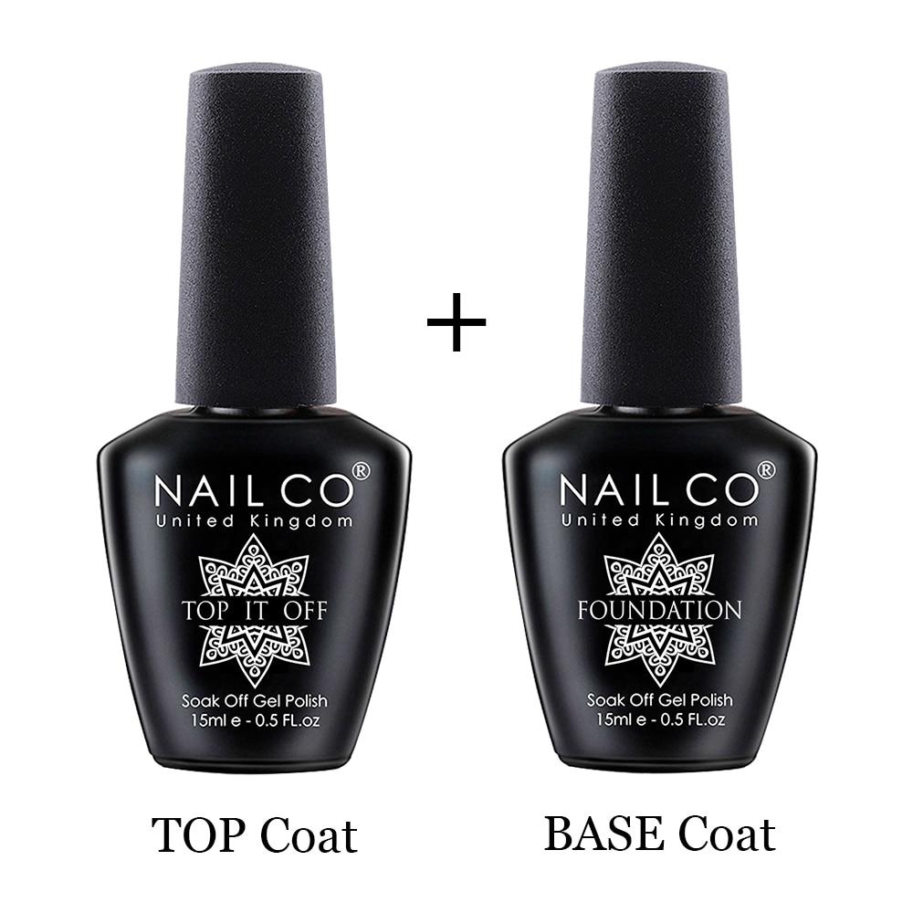 Основа и верхнее покрытие NAILCO, Гель-лак для ногтей, 15 мл, УФ-светодиодный полупрозрачный Перманентный лак для дизайна ногтей, гибридные Лаки