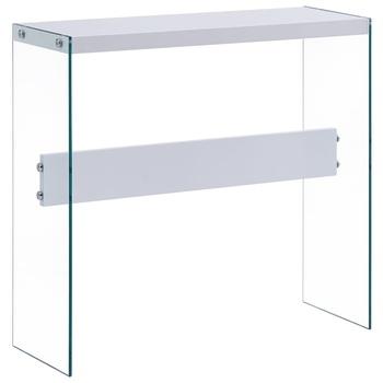 Stół konsolowy biały 82x29x75 5 cm MDF tanie i dobre opinie FR (pochodzenie) Metal 82 x 29 x 75 5 cm (L x W x H)