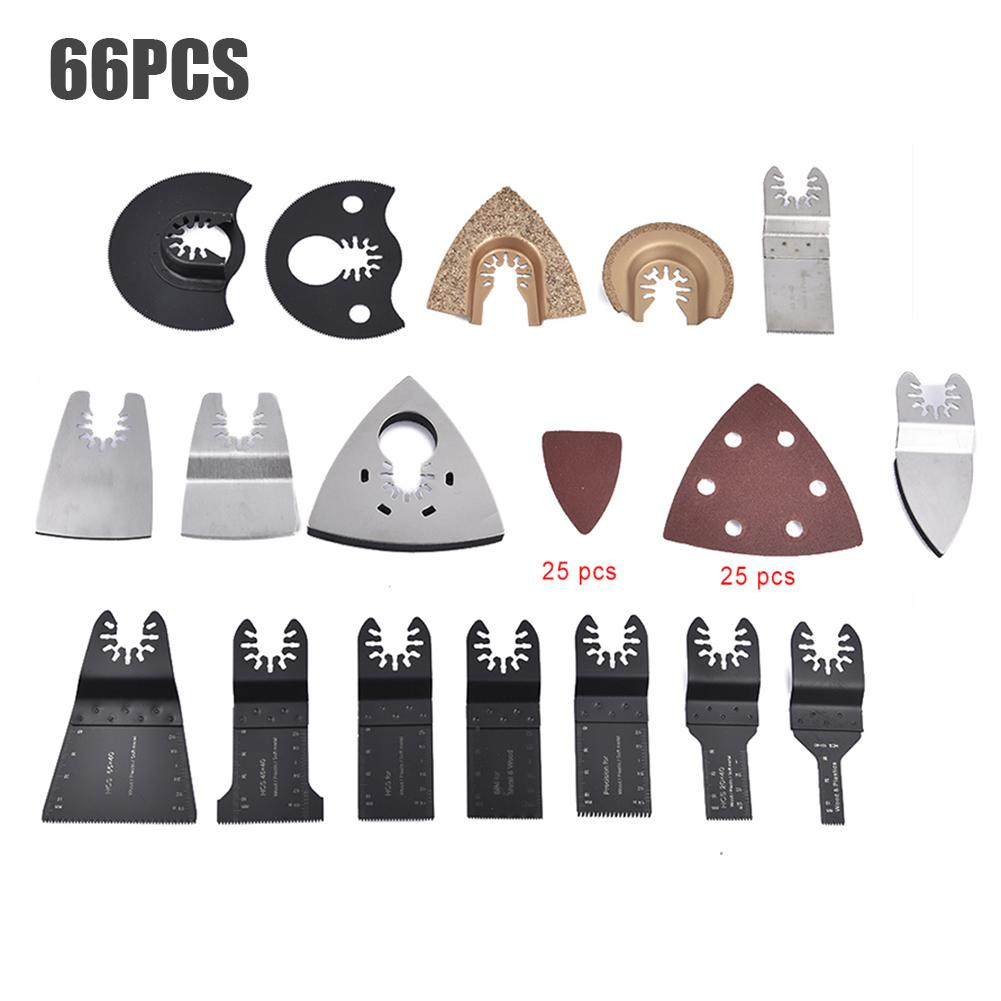 66PCS Quick-release Oscillating Saw Blades Kits Multifunctional Electric Tool Accessories For Wood Metal Plastic Attachment Kit
