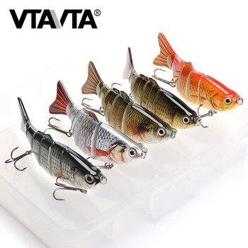 VTAVTA 5 uds conjunto de Señuelos de Pesca Wobblers Crankbaits caja de pesca para Wobblers Swimbait Kit de cebo Artificial señuelo duro aparejos de pesca