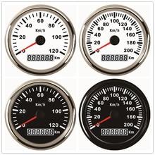 Универсальный 85 мм gps Спидометр 120 км/ч 200 км/ч для автомобиля Грузовик Лодка Мотор Авто с красной подсветкой 12 В 24 В с gps антенной