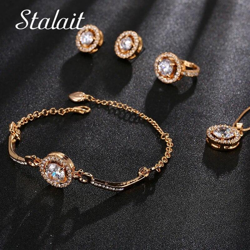Wedding Jewelry Bridal Jewelry Sets Rose Gold Wedding Jewelry Bridesmaid Gifts Personalized Gifts Weddings Bridesmaid Jewelry