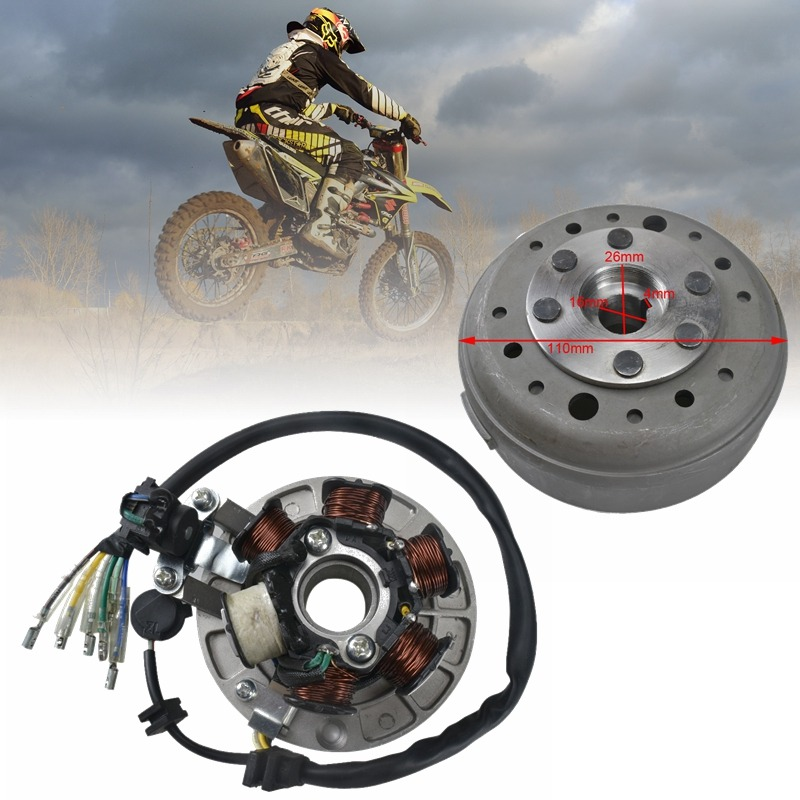 TDPRO 6 Coil Ignition Magneto Stator Flywheel for Lifan Motorcycle Dirt <font><b>Pit</b></font> <font><b>Bike</b></font> 110cc <font><b>125cc</b></font> 140CC 150CC <font><b>Engine</b></font> SSR SDG <font><b>Pit</b></font> <font><b>Bike</b></font> image