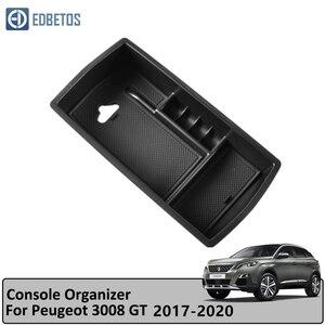 Автомобильный подлокотник коробка для Peugeot 3008 3008GT 4008 5008 2017 2018 2019 2020 центральная консоль ящик для хранения перчаток Органайзер вставной лото...