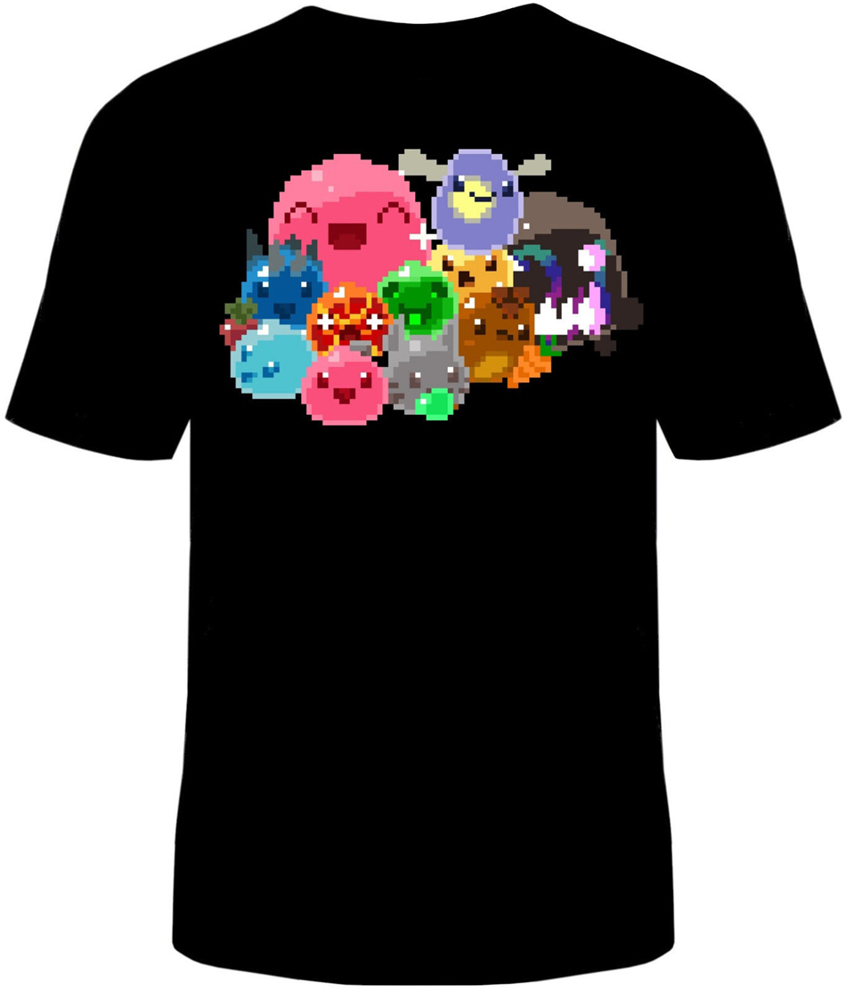 <font><b>Slime</b></font> <font><b>Rancher</b></font> 8 Bit T-<font><b>Shirt</b></font> Unisex Mens Cotton <font><b>Slimes</b></font> Tarr Video Game Style Round Tee <font><b>Shirt</b></font> image