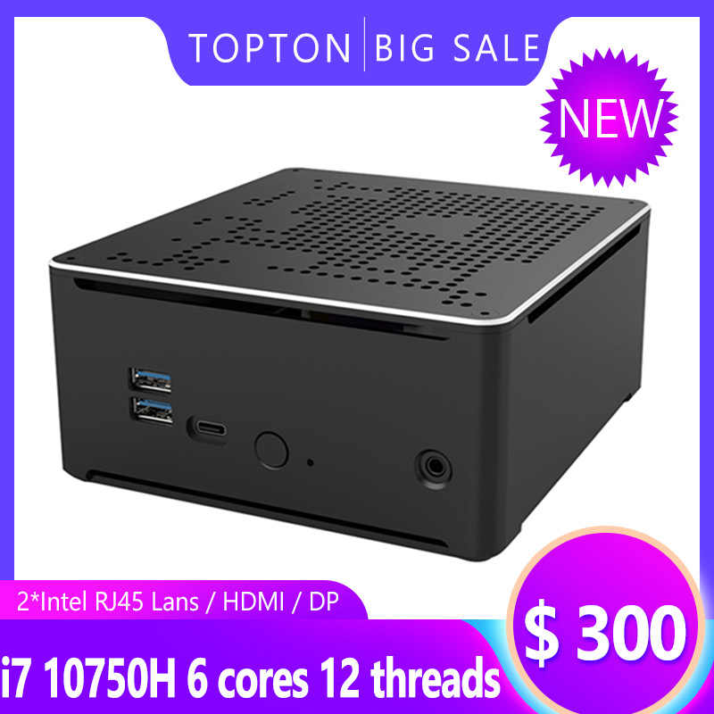 10th gen nuc i7 10750h i9 9880h 6 núcleo i5 mini pc 2 lan windows 10 2 * ddr4 2 * m.2 nvme ac wifi, computador, jogo, 4k dp hdmi