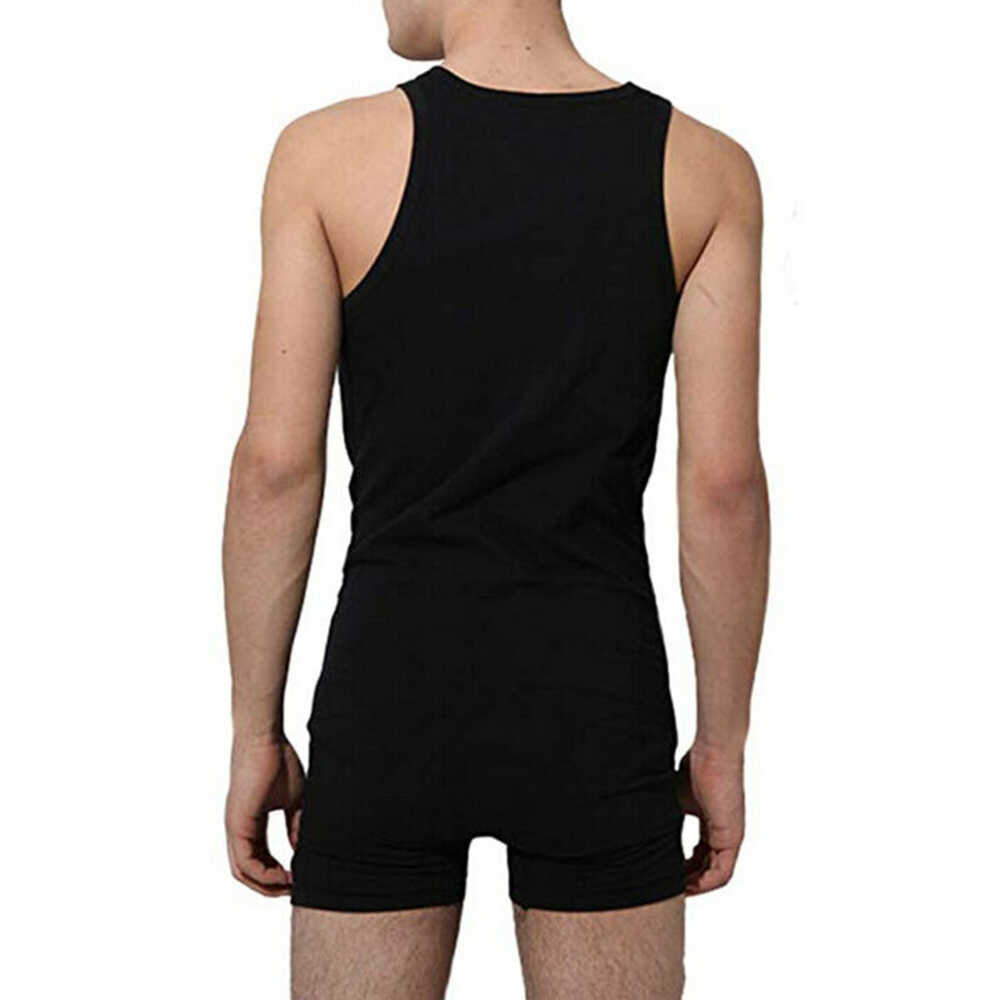 섹시한 남자 undershirt 바디 슈트 바디 코튼 맨 언더웨어 꽉 셰이퍼 섹시한 원피스 버튼 bodywear romper men corset