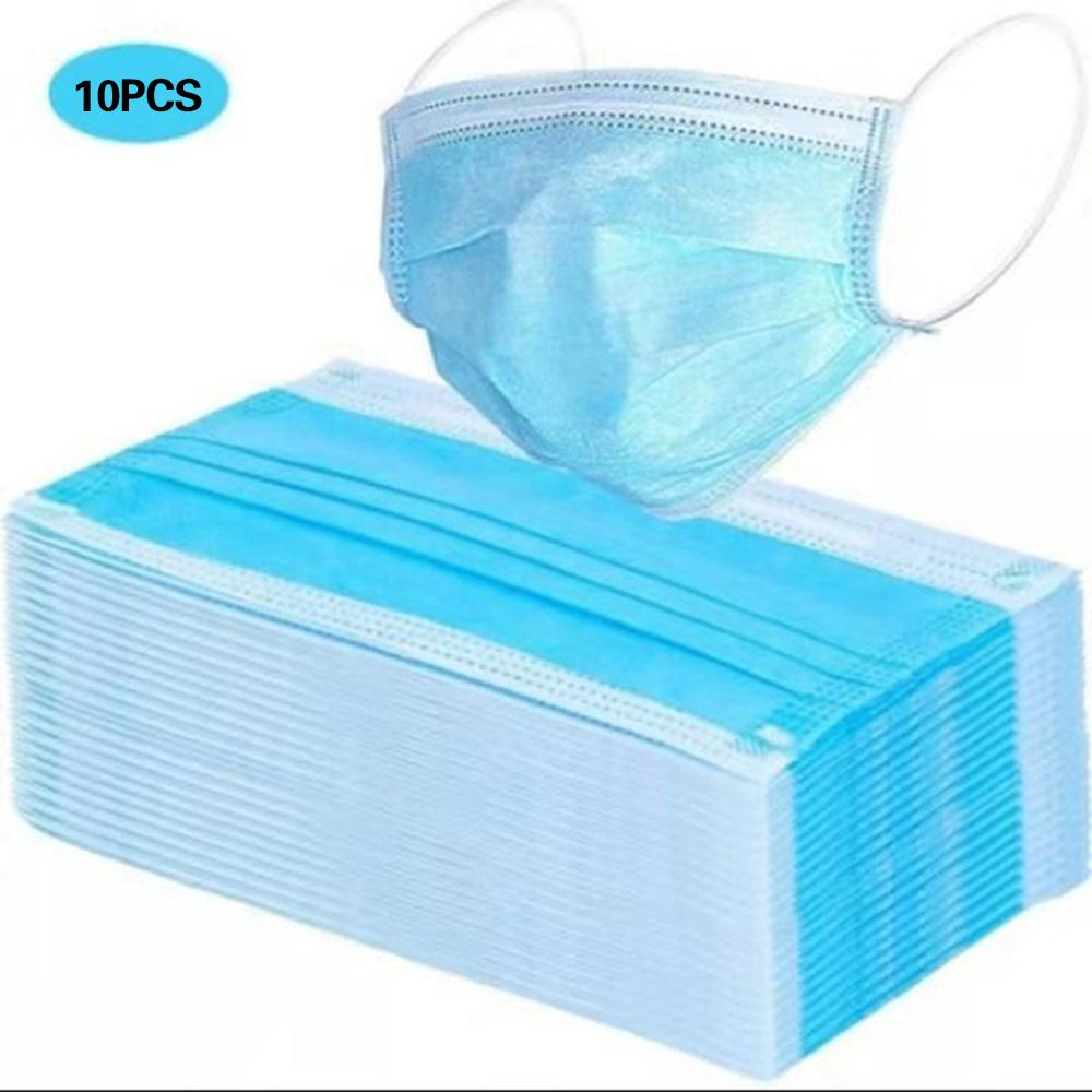10 Pcs 3-Ply Face Mask Scarf Climbing Skiing Warmth Disposable Face Mask Dust Mask Face Masks Durable Portable Windbreak
