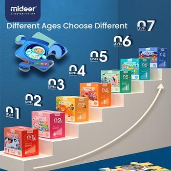 Mideer Kid Jigsaw Montessori Puzzle edukacyjne zaawansowane duże kawałek Puzzle dziecko maluch zabawki do wczesnej edukacji rozwój mózgu