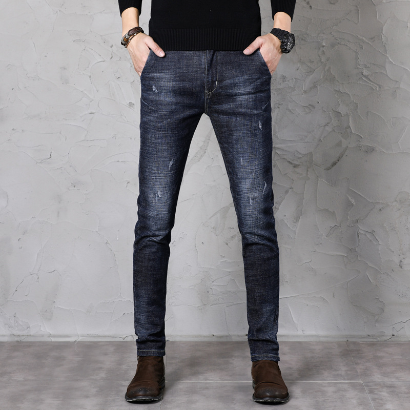 Jeans Men's Skinny Autumn New Style Popular Brand Fashion Casual Youth MEN'S Jeans