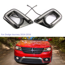 цена на YTCLIN LED DRL Daytime Running Lights for Dodge Journey 2014 2015 2016 Day Light With Turn Yellow Signal Lamp Car Light Assembly
