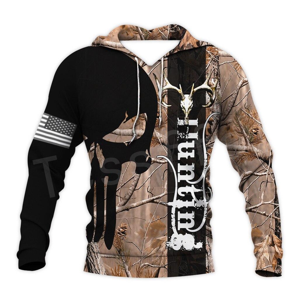 Tessffel Animal Bow Deer Hunter Hunting Camo Tracksuit Pullover NewFashion Unisex 3DPrint Sweatshirts/Hoodies/zipper/Jacket S-10