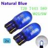 (2 Pieces/Lot) 580 7443 W21/5W XENON Super White T20 Natural Blue Glass 12V 21/5W W3x16q Car Light Bulb Auto Lamp