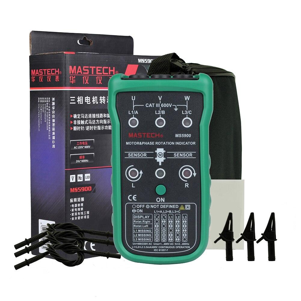 pilhas indicador de rotação fase display digital detector portátil preciso