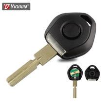 Yiqixin remoto escudo chave do carro substituição estilo antigo para bmw 3 5 7 z3 e36 e34 e38 com luz led transponder caso chave hu58 lâmina