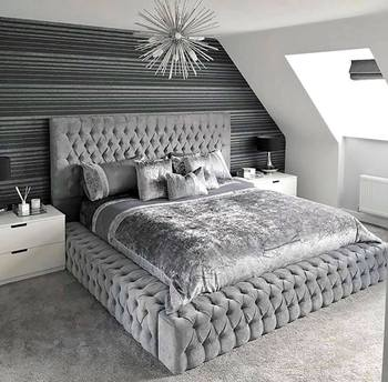 Modern Plush Bed 1