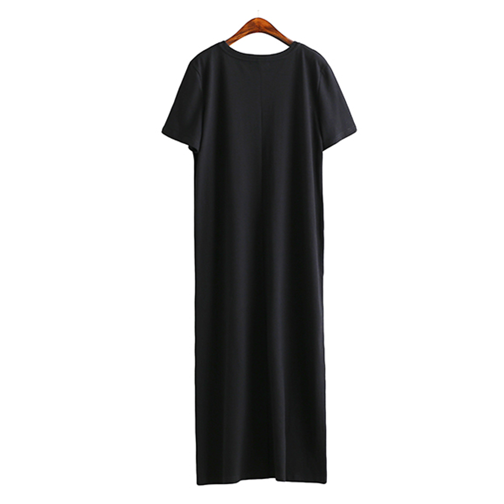 H07f9948786ba499ea05ba4135a687858n - Maxi T Shirt Dress Women Summer Beach Sexy Party Vintage  Bodycon Casual Korean Style Cotton Home Black Long Dresses Plus Size