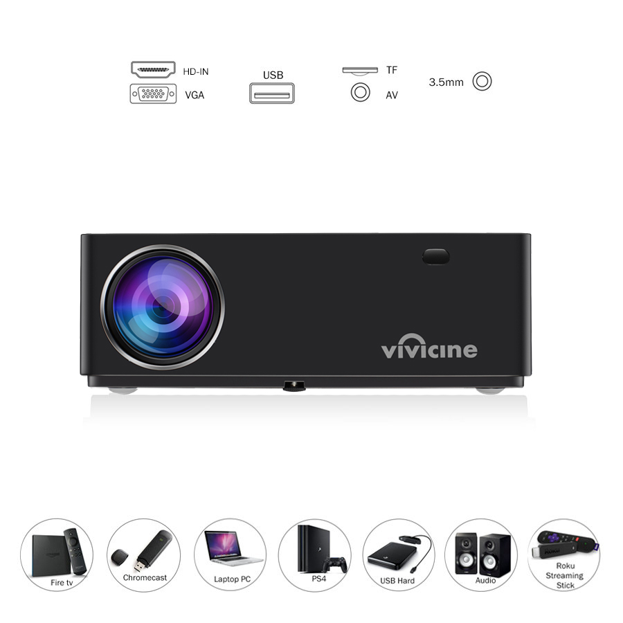 Vivicine M20 Newest 1080p Projector,Option Android 10.0 1920x1080 Full HD LED Home Theater Video Proyector Beamer Support AC3 6