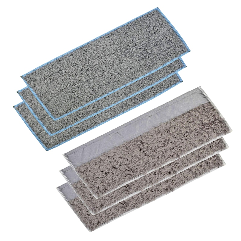 3 Wet Pads And 3 Dry Pads Washable And Reusable Mopping Pads For IRobot Braava Jet M6 (6110) Robot Mop