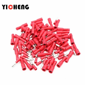 50pcs connection terminal cold-pressed terminal block terminals for wire cable crimping kit wire connector Bullet shape