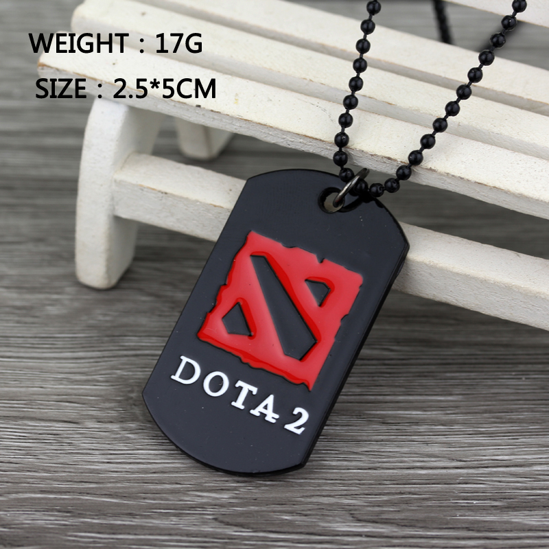 3d Online Game Dota 2 Logo Necklace Dota2 Defense Of The Ancients