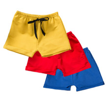 3Piece/pack Baby Shorts For Boys Cotton Casual Baby Boy Shorts Summer Baby Girls Shorts Solid Panties Kids Beach Short Sports