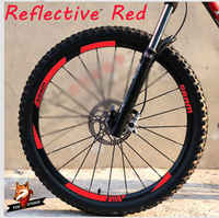 MTB Wheel Rim Stickers for Mountain Bike Replacement Reflective Fluo Race Cycling Dirt Vinyl Rim Decals