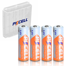 4PCS PKCELL AA 2500mWh 1.6V Ni Zn AA Rechargeable Batteries 2A NIZN battery  And 1PCS AA/AAA Battery Hold Case Box For Toy
