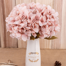 פרחים מלאכותיים הידראנגאה סניף בית חתונת דקור autum משי פלסטיק פרח באיכות גבוהה מזויף פרח מסיבת חדר קישוט