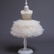 Vestido de princesa de encaje para bebé, ropa de fiesta de 2 a 6 años, blanco y negro, 1 er cumpleaños, tutú, 2021