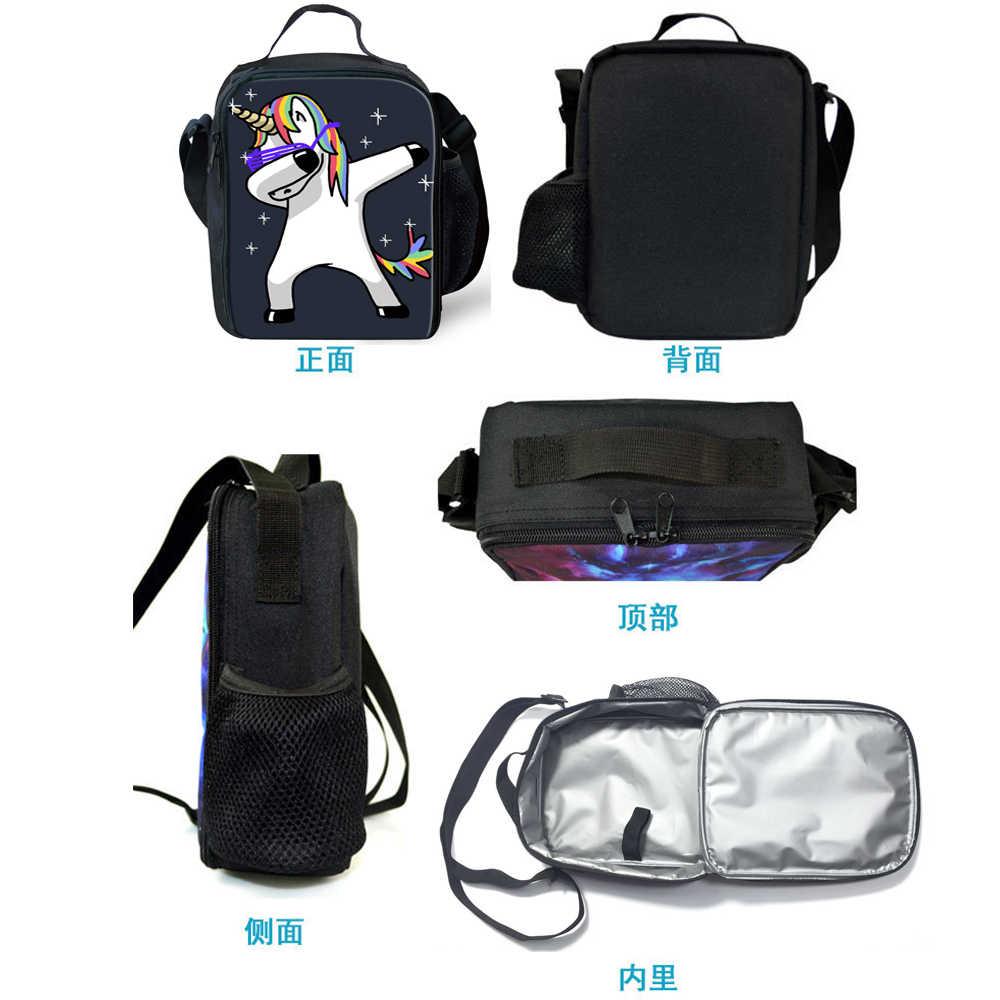 Bolsas de almuerzo de caballo con estampado de la Sirenita Ariel para mujeres niños bolsa de almuerzo térmica bolsas de Picnic de hombre para comida cajas de comida